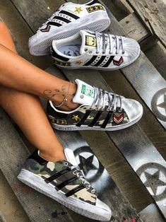 Adidas Superstar WHT ARMY Custom by Muffin #muffinshop