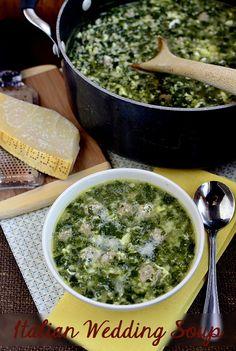 Italian Wedding Soup.  Will make my own version of healthier mini meatballs. iowagirleats.com