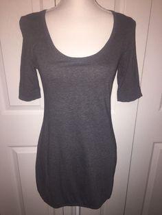 VS Yoga Top Victoria's Secret Gray Athletic shirt Small Elastic Hem Tunic    eBay