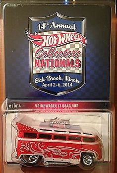 Hot Wheels 2014 Convention 14th Nationals - Volkswagen VW T1 Drag Bus #'d/2400