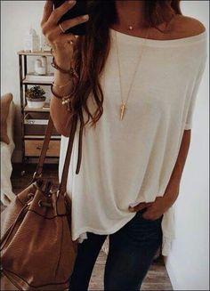 Off shoulder & Necklace