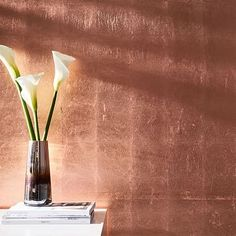 Copper Metallic Wallpaper #westelm