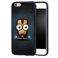 Funny iron man Printed Soft TPU Skin Mobile Phone Cases Accessories For iPhone 6 6S Plus SE 5 5S 5C 4 4S Back Shell Cover