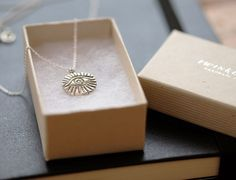 Necklace 'eye' silver *one of a kind*