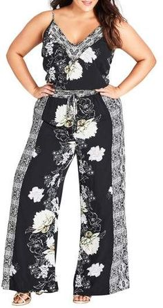ae817c162ba City Chic Jewel Jumpsuit Printed Jumpsuit