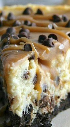 tartas faciles con caramelo y chocolate a dos capas