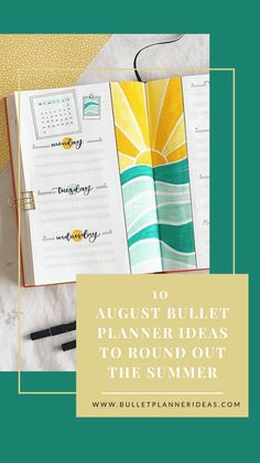 10 August Bullet Planner Ideas to Round Out the Summer - While Summer might be coming to an end, August still holds a host of fun. Rodeos, rallies and festivals galore round out the Summer months. You might even try to squeeze in one last holiday. August signals the start of a new academic year just around the corner, so you might be setting yourself some goals to achieve. Click to read more. Bullet Journal Gifts, Bullet Journal For Beginners, January Bullet Journal, Bullet Journal Monthly Spread, Bullet Journal Printables, Bullet Journal How To Start A, Bullet Journal Layout, Bullet Journal Ideas Pages, Bullet Journal Inspiration