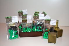 """10 """"Steve's Dirt Bead Kits"""" - Minecraft Party Favor with Free Customization of the Birthday Child's Name! on Etsy, $10.00"""