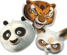 printable kung fu panda masks for kids free  from HP Creative Studio via printables4mom.com