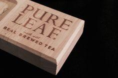 #lasercut #wood #block #engraving #tea #PoS #retail