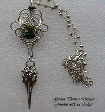 Artisan Handmade Green Mystic Topaz Vintage, Silver Wire Wrapped Pendant by GTD