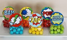 Superhero favor toppers