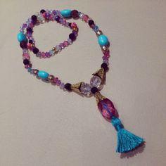 necklace collares pompon blue turquesa agata jewelry bisuteria shuuforyou fashion moda boho