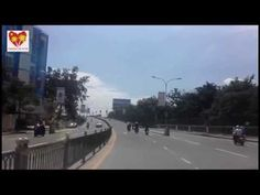 Cambodia Street View | Street View of Techno Sky Bridge to Plaza Supermarket | Cambodia Travel View - YouTube