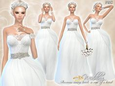 Pinkzombiecupcakes' Wedding Dress Endless Elegance | Sims 4 Updates -♦- Sims Finds & Sims Must Haves -♦- Free Sims Downloads