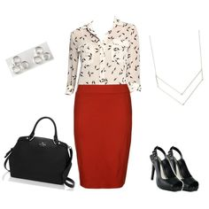"""Modern Classic Work Look"" by cewillia85 on Polyvore"