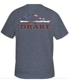 Add a patriot edition to your wardrobe with the Americana Logo tee from Drake…