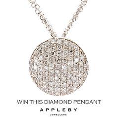Christmas Giveaways, Diamond Pendant, Dublin, Jewels, Amazing, Silver, Jewerly, Gemstones, Fine Jewelry