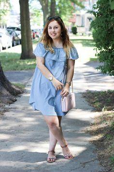 Sweet, Short & Stylish: Chambray Dress