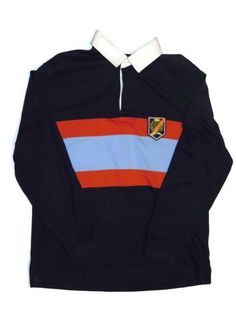 77022daff074a2 Vintage Tommy Hilfiger Long Sleeve Rugby Polo Size Medium Navy W  Blue   fashion