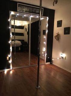 32 Trendy Home Pole Dancing Studio Bedroom Lighting, Bedroom Decor, Home Dance Studio, Dance Studio Design, Stripper Poles, Dance Rooms, Pole Dancing Fitness, Pole Fitness, Studio Interior