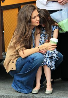 Katie Holmes and her little Suri are so darling in their stylish outfits and gorgeous hair.
