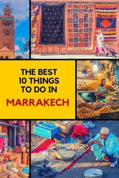 Going to Marrakech? Here are the best things to do in the city. #Marrakech #Morocco
