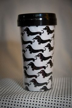 Dachsund wiener dog doxie  16oz. travel by Emsblanketstatement, $15.00
