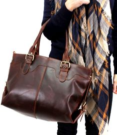 I love this bag. Large Leather Purse in Vintage Brown #ad