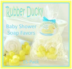 15 RUBBER DUCKY Baby Shower Soap Favor Pack  by crimsonhill, $37.00