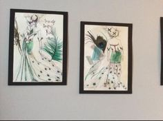 Costume designs for Titania in a Midsummer Nights Dream by Angela Turkington