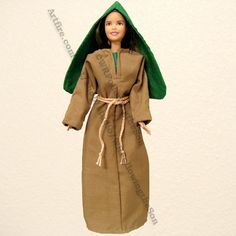 Biblical Martha Sister of Mary Brown Dress Barbie Fashion Doll Outfit  | WRFollowingtheSon