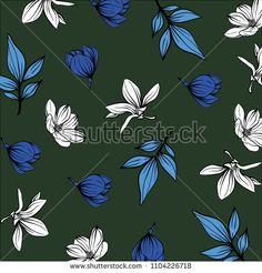 spring flower pattern - bu vektörü Shutterstock'ta satın alın ve başka görseller bulun. Spring Flowers, Flower Patterns, Image, Doodle Flowers, Floral Patterns, Spring Colors