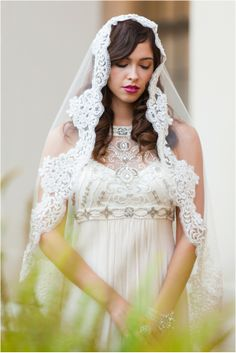 1920's Inspired Bridal Shoot by Jennifer Fujikawa Photography  Veil, Marisol Aparicio