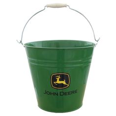 "John Deere 11"" metal bucket $17.95 - to hold party favors, bags of chips, centerpieces..."