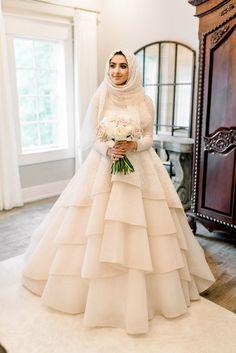 Muslim Wedding Gown, Hijabi Wedding, Muslimah Wedding Dress, Hijab Style Dress, Muslim Wedding Dresses, Hijab Bride, Muslim Brides, Wedding Dress Trends, Dream Wedding Dresses