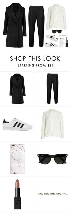"""""""Everyday Look"""" by anaritaleite ❤ liked on Polyvore featuring French Connection, adidas, River Island, Ray-Ban, NARS Cosmetics, Henson, women's clothing, women's fashion, women and female"""