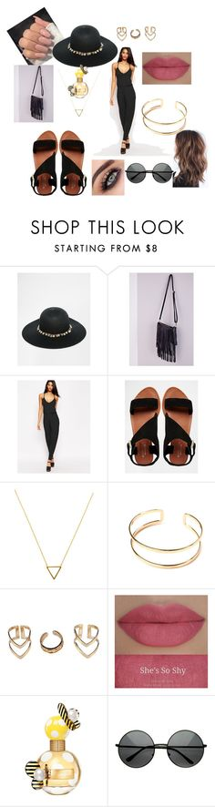 """from nowhere"" by sarah82469 ❤ liked on Polyvore featuring ASOS, Carvela, Wanderlust + Co, Boohoo, She's So, Marc Jacobs and MLC Eyewear"