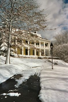 Visit the Baldwin-Reynolds House Museum in Meadville, Pa. The two-story Greek revival mansion was the quintessential southern home located in northwestern PA. The museum was built by Henry Baldwin, a member of the United States House of Representatives. Plan a winter trip here to learn more about the museum. #PASnowDays