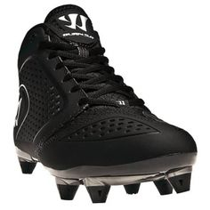 SALE - Mens Warrior Burn 5.0 Lacrosse Cleats Black Synthetic - Was $89.99 -  SAVE $50.00