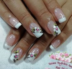 Cute Summer Nail Designs, Cute Summer Nails, Spring Nails, Manicure, Mani Pedi, Feather Nail Art, Flower Nails, Beauty Nails, My Nails