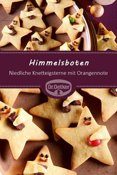 Cookies Recipes Himmelsboten: Cute Knetteigsterne with orange note . Fall Desserts, Christmas Desserts, Christmas Cookies, Cookie Recipes, Dessert Recipes, Pasta, Christmas Breakfast, Pumpkin Spice Cupcakes, Noel Christmas