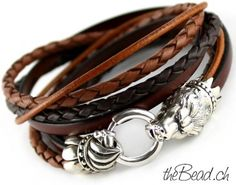 LION Leather Bracelet by theBead.ch