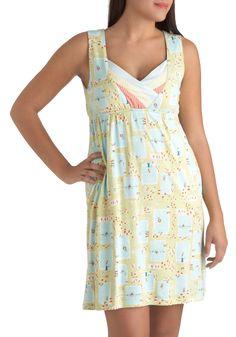 On a Swim Nightgown by Munki Munki - Multi, Kawaii, Multi, Novelty Print, Pockets