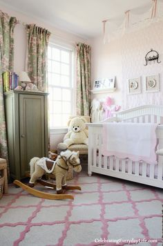 A Little Girl's Pink & Green Bedroom from Celebrating Everyday Life with Jennifer Carroll blog
