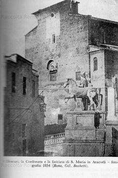Dioscuri e santa maria ara coeli 1854 Santa Maria, Old Buildings, Mount Rushmore, Rome, Mountains, City, Painting, Paris, Fotografia