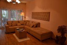 Sofa modułowa , ława tapicerowana , panel tapicerowany