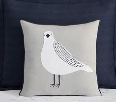 Monique Lhuillier Gull Decorative Pillow #Pottery Barn Kids