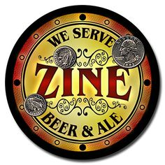 Zine Family Name Beer and Ale Rubber Drink Coasters - Set of 4