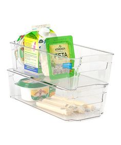 Another great find on #zulily! 13'' x 6'' Clear Refrigerator Organizer - Set of Two #zulilyfinds